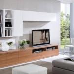 2-set mobila alb si maro decor perete televizor living modern
