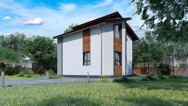 2-spate casa mica cu mansarda sub 80 mp proiect