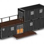 2-suprapunere doua ocntainere maritime pentur constructia unei case usoare