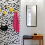 2-tapet decorativ cu imprimeu grafic decor perete de accent hol mic