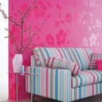 2-tapet decorativ culoare fuchsia pentru living