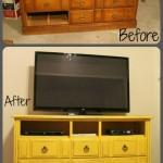 2-transformare comoda tv dintr-o comoda veche cu sertare