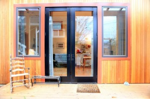 2-usa intrare casa mica din lemn Portland Oregon SUA