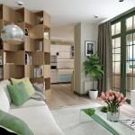 2-vedere din living in bucatarie apartament modern Artek Studio
