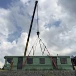 20-asezare cu macara pe terenul pregatit casa mobila SH Rot Resort