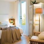 20-dormitor rustic eco cu mobila vintage din lemn masiv culoare alba