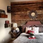 20-dormitor vintage perete decorat cu dusumea lemn