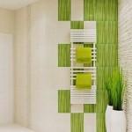 20-idei decorative baie moderna placata cu faianta alba si vernil