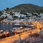 20-portul de pe insula Hydra seara