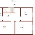 20-schita etaj casa mica din lemn de 96 mp