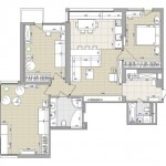 20-schita plan apartament 4 camere dupa configurare