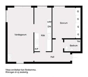 20-schita plan compartimentare apartament cu doua camere