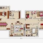 20-schita plan proiect casa 3 dormitoare fara etaj