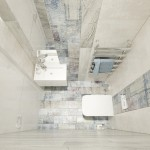 20-vedere de sus baie cu wc si lavoar amenajata in stil scandinav modern