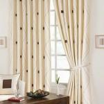 21-draperii albe elegante imprimeu discret ferestre living