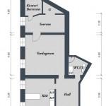 21-schita apartament doua camere semidecomandat