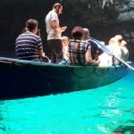 28-apa turcoaz in lacul subteran Melissani insula Kefalonia