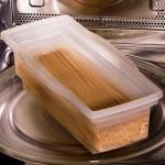 3-Fasta Pasta recipient cu paste inainte de a fi introdus in cuptorul cu microunde