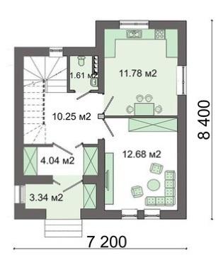 3-Plan parter casa mica sub 80 mp parter si mansarda