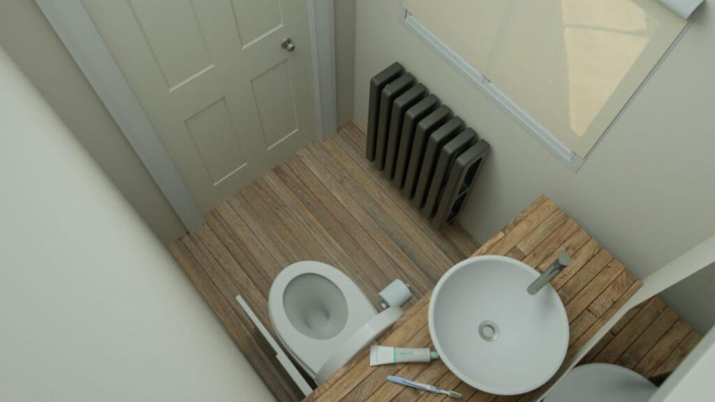 WC compact rabatabil baie foarte mica