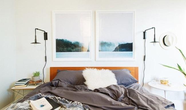 3-accente cromatice sub forma unor tablouri exemplu amenajare dormitor mic