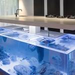 3-acvariu integrat in insula bucatarie creatie robert kolenik
