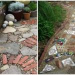 3-alei de curte si gradina confectionate din resturi de materiale