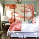 3-amenajare dormitor bleu accente portocaliu deschis