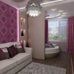 3-amenajare dormitor in balconul alaturat livingului din garsoniera moderna