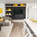 3-ansamblu mobilier modern minimalist pentru televizor decor living open space