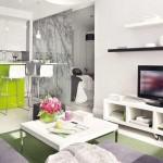 3-apartament mic cu bucatarie si living amenajate in plan deschis