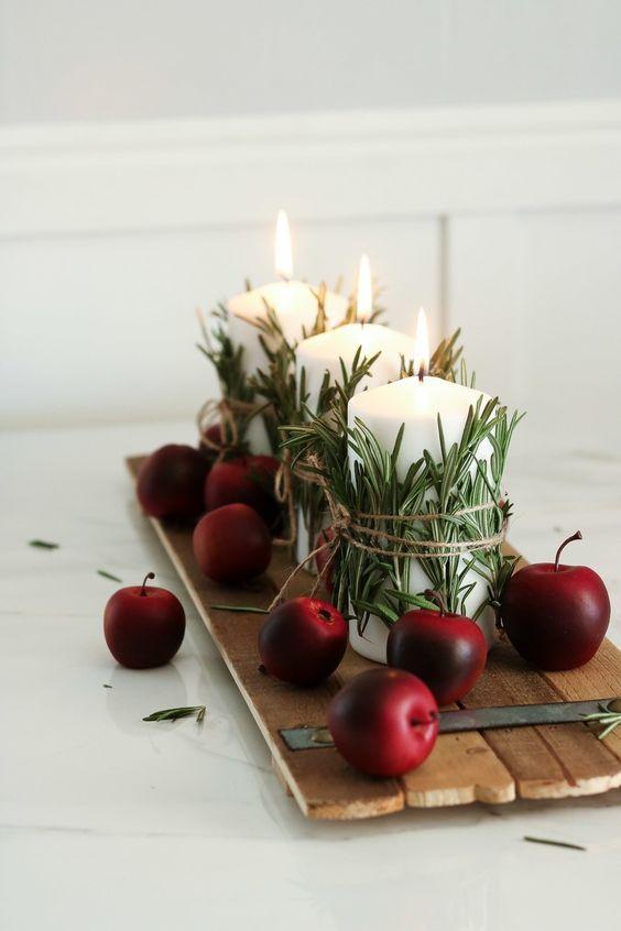 3-aranjament-decorativ-toamna-mere-rozmarin-lumanari