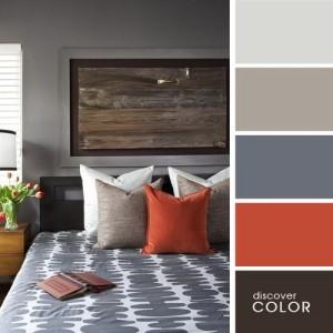 3-asortare culori dormitor amenajat si decorat in gri
