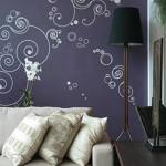 3-autocolante decorative e peretele din spatele canapelei din living