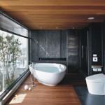 3-baie minimalista cu vas toaleta cu bideu integrat