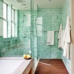 3-baie moderna alb cu turcoaz