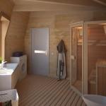 3-baie spatioasa interior casa tip dom din lemn Dobrosfera