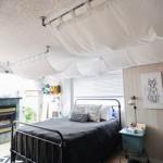 3-baldachin stilizat decorare perete de la capul patului din dormitor