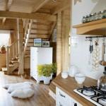 3-blat bucatarie rustica in casa taraneasca de lemn