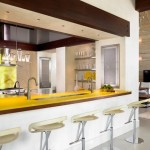 3-blat de lucru din sticla securizata culoare galbena decor bucatarie moderna