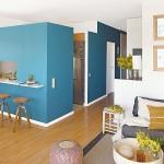 3-bucatarie cu bar interior apartament 50 mp