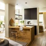 3-bucatarie deschisa spre living apartament modern 53 mp