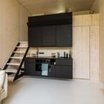 3-bucatarie mica interior casa modulara din beton Koda