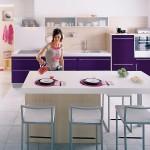 3-bucatarie moderna alb si violet