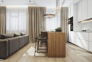 3-bucatarie moderna cu mobila alba cu design minimalist
