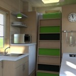 3-bucatarie moderna echipata interior casa mica mobila 15 mp