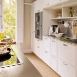 3-bucatarie stil eco rustic modern amenajata in alb si bej