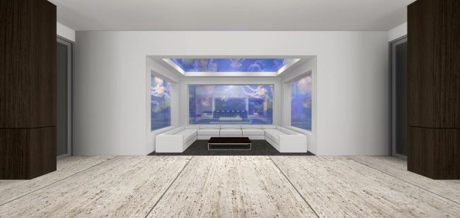 3-camera acvariu din cea mai scumpa casa din lume