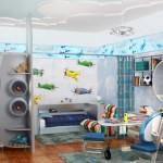 3-camera cu tematica aviaticapentru un baiat