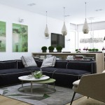 3-canapea coltar living modern open space apartament 4 camere